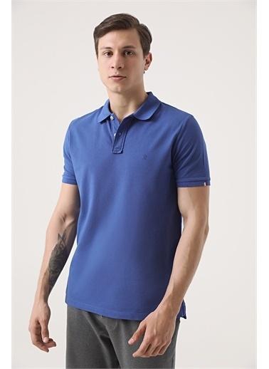 Damat Damat Vizon 60/2 Merserize T-Shirt İndigo